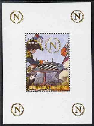 Chad 2009 Napoleon #1 Playing Chess with Cornwallis perf deluxe sheet unmounted mint. Note this item is privately produced and is offered purely on its thematic appeal.