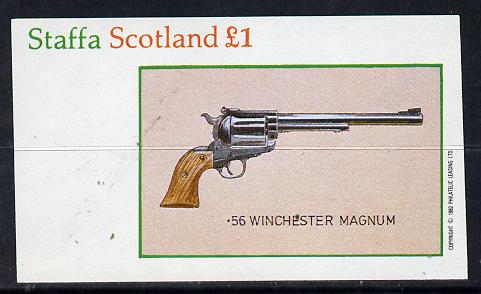 Staffa 1982 Pistols (56 Winchester) imperf souvenir sheet (�1 value) unmounted mint