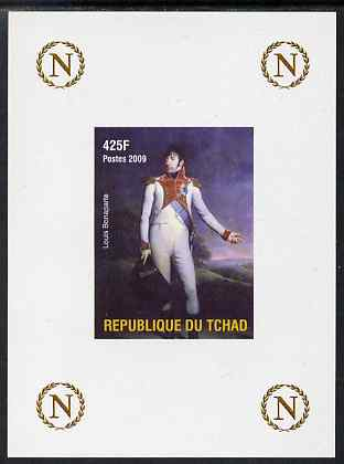 Chad 2009 Napoleon #7 Louis Bonaparte imperf deluxe sheet unmounted mint. Note this item is privately produced and is offered purely on its thematic appeal. , stamps on personalities, stamps on napoleon, stamps on   , stamps on dictators.