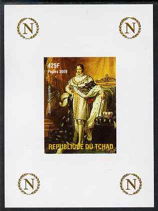 Chad 2009 Napoleon #9 Joseph Bonaparte - King of Spain imperf deluxe sheet unmounted mint. Note this item is privately produced and is offered purely on its thematic appeal.