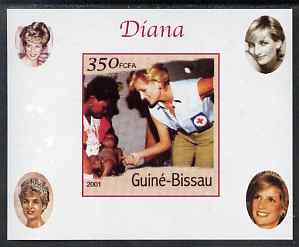 Guinea - Bissau 2001 Princess Diana #1 imperf deluxe sheet unmounted mint. Note this item is privately produced and is offered purely on its thematic appeal, stamps on personalities, stamps on royalty, stamps on diana, stamps on red cross