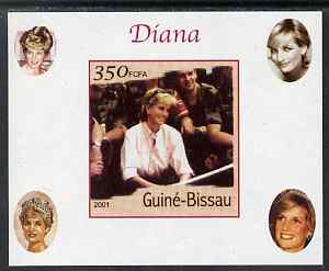 Guinea - Bissau 2001 Princess Diana #3 imperf deluxe sheet unmounted mint. Note this item is privately produced and is offered purely on its thematic appeal