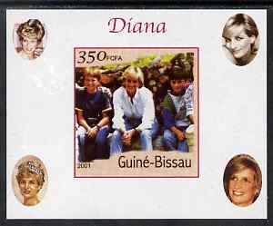 Guinea - Bissau 2001 Princess Diana #4 imperf deluxe sheet unmounted mint. Note this item is privately produced and is offered purely on its thematic appeal