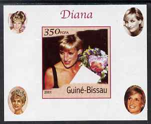 Guinea - Bissau 2001 Princess Diana #5 imperf deluxe sheet unmounted mint. Note this item is privately produced and is offered purely on its thematic appeal