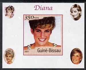 Guinea - Bissau 2001 Princess Diana #6 imperf deluxe sheet unmounted mint. Note this item is privately produced and is offered purely on its thematic appeal
