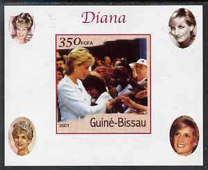 Guinea - Bissau 2001 Princess Diana #8 imperf deluxe sheet unmounted mint. Note this item is privately produced and is offered purely on its thematic appeal