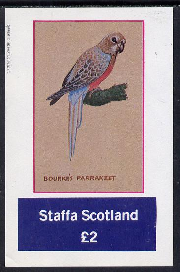 Staffa 1982 Bourkes Parrakeet imperf deluxe sheet (�2 value) unmounted mint