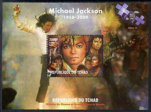 Chad 2009 Michael Jackson #1 perf s/sheet unmounted mint. Note this item is privately produced and is offered purely on its thematic appeal.
