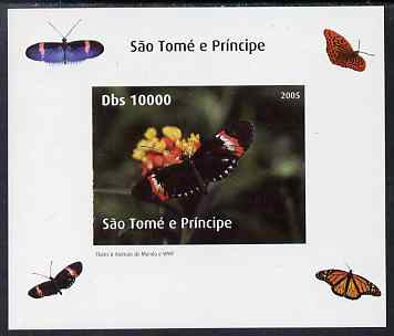 St Thomas & Prince Islands 2005 Butterflies #2 individual imperf deluxe sheet unmounted mint. Note this item is privately produced and is offered purely on its thematic appeal