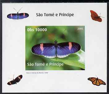 St Thomas & Prince Islands 2005 Butterflies #4 individual imperf deluxe sheet unmounted mint. Note this item is privately produced and is offered purely on its thematic appeal