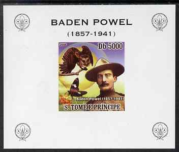 St Thomas & Prince Islands 2008 Baden Powell #3 individual imperf deluxe sheet unmounted mint. Note this item is privately produced and is offered purely on its thematic appeal