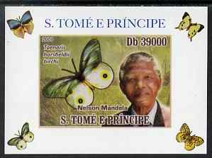 St Thomas & Prince Islands 2009 Nelson Mandela & Butterfly #3 individual imperf deluxe sheet unmounted mint. Note this item is privately produced and is offered purely on...