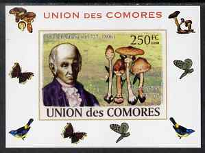 Comoro Islands 2008 Botanists & Fungi #4 Michel Adanson individual imperf deluxe sheet unmounted mint. Note this item is privately produced and is offered purely on its thematic appeal, it has no postal validity