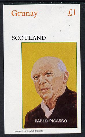 Grunay 1982 Artists (Picasso) imperf souvenir sheet (�1 value) unmounted mint