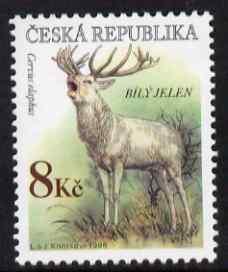 Czech Republic 1998 White Deer 8kc from Endangered Species set unmounted mint, SG 189