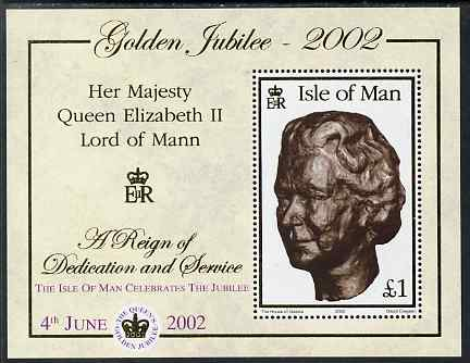 Isle of Man 2002 Golden Jubilee - 2nd issue perf m/sheet unmounted mint, SG MS 975