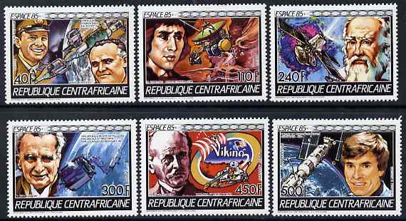 Central African Republic 1985 Space Research perf set of 6 unmounted mint SG 1145-50