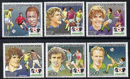 Central African Republic 1985 Football World Cup perf set of 6 unmounted mint SG 1117-22