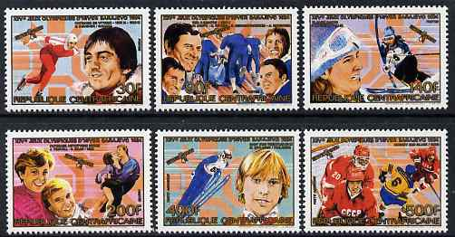 Central African Republic 19864 Winter Olympic Gold Medallists perf set of 6 unmounted mint SG 1048-53