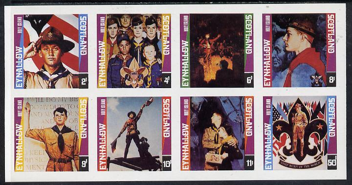 Eynhallow 1978 Scouts (Paintings by Norman Rockwell) imperf  set of 8 values (2p to 50p) superb unmounted mint