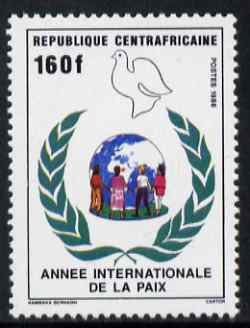 Central African Republic 1986 International Peace Year 160f unmounted mint SG 1228