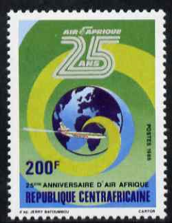 Central African Republic 1986 25th Anniversary of Air Afrique 200f unmounted mint SG 1229