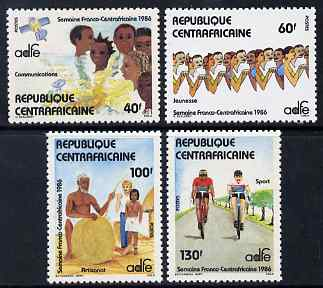 Central African Republic 1986 Franco-Central Africa week perf set of 4 unmounted mint SG 1193-6
