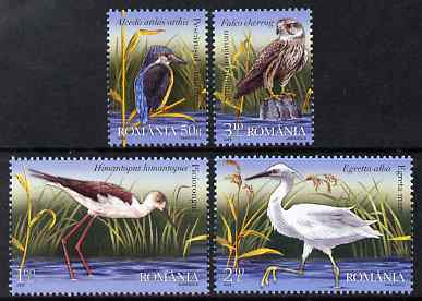 Rumania 2009 Birds from the Danube Delta perf set of 4 unmounted mint