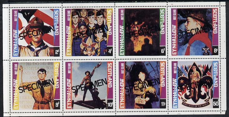 Eynhallow 1978 Scouts (Paintings by Norman Rockwell) perf  set of 8 values (2p to 50p) opt'd SPECIMEN, superb unmounted mint