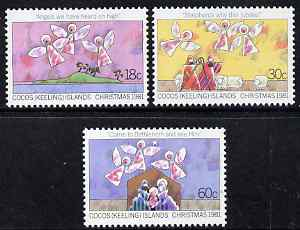 Cocos (Keeling) Islands 1981 Christmas perf set of 3 unmounted mint, SG 72-4