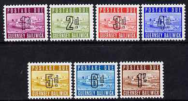 Guernsey 1969 Postage Due set of 7 complete unmounted mint, SG D1-7