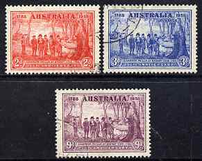 Australia 1937 New South Wales set of 3 fine cds used SG 193-95