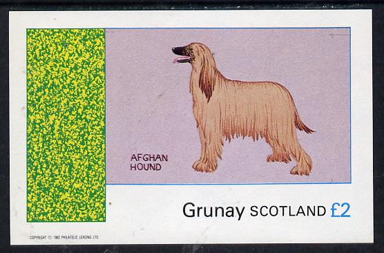 Grunay 1982 Dogs (Afghan Hound) imperf deluxe sheet (�2 value) unmounted mint