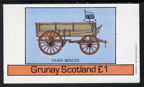 Grunay 1982 Transport (Farm Wagon) imperf souvenir sheet (�1 value) unmounted mint