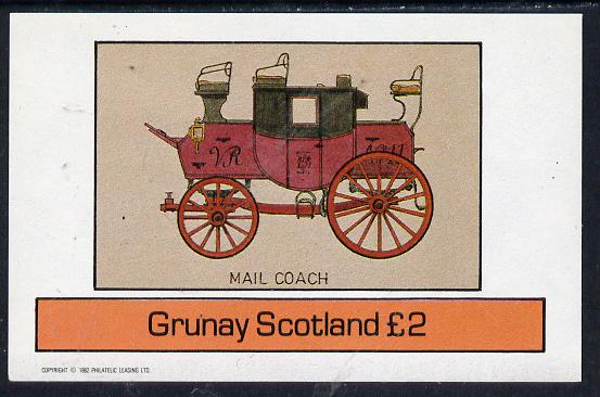Grunay 1982 Transport (Mail Coach) imperf deluxe sheet (�2 value) unmounted mint