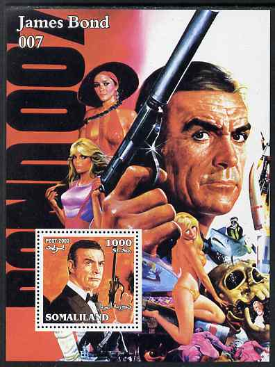 Somaliland 2002 James Bond (Sean Connery) #2 perf m/sheet unmounted mint