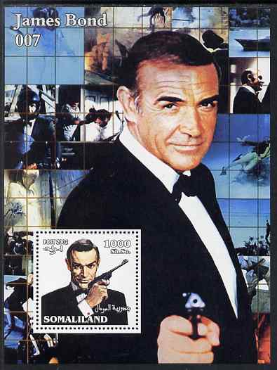 Somaliland 2002 James Bond (Sean Connery) #3 perf m/sheet unmounted mint. Note this item is privately produced and is offered purely on its thematic appeal