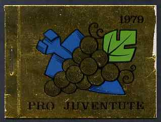 Booklet - Switzerland 1979 Pro Juventute 7f80 booklet complete and very fine, SG JSB29