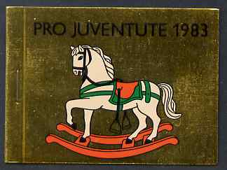Booklet - Switzerland 1983 Pro Juventute 7f80 booklet complete and very fine, SG JSB33