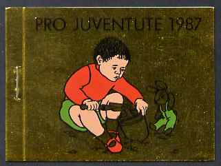 Booklet - Switzerland 1987 Pro Juventute 9f booklet complete and very fine, SG JSB37