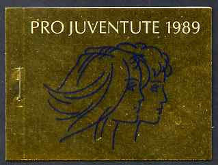 Booklet - Switzerland 1989 Pro Juventute 9f booklet complete and very fine, SG JSB39