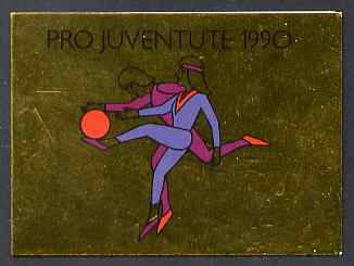 Booklet - Switzerland 1990 Pro Juventute 8f booklet complete and very fine, SG JSB40