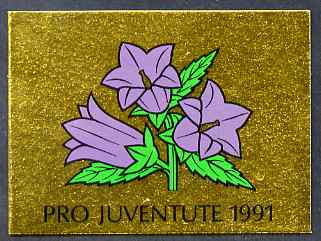 Booklet - Switzerland 1991 Pro Juventute 8f50 booklet complete and very fine, SG JSB41