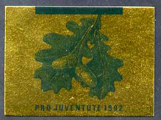 Booklet - Switzerland 1992 Pro Juventute 8f50 booklet complete and very fine, SG JSB42