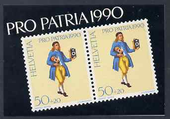 Booklet - Switzerland 1990 Pro Patria 7f50 booklet complete and very fine, SG PSB1