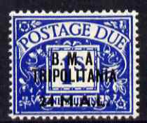 British Occupations of Italian Colonies - Tripolitania 1948 KG6 Postage Due 24L on 1s unmounted mint light crease SG TD5