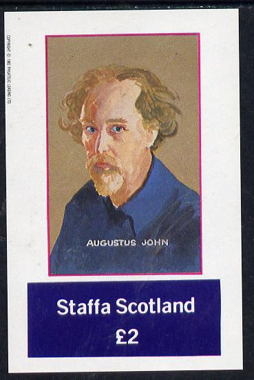 Staffa 1982 Artists (Augustus John) imperf deluxe sheet (�2 value) unmounted mint