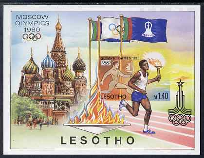 Lesotho 1980 Moscow Olympic Games imperf proof of m/sheet  unmounted mint and scarce thus, as SG MS 397