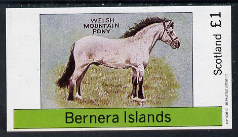 Bernera 1982 Ponies (Welsh Mountain Pony) imperf souvenir sheet (�1 value) unmounted mint