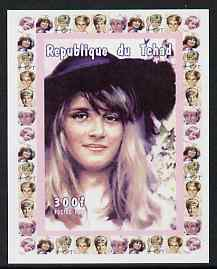 Chad 1997 Princess Diana 300f series #1 imperf deluxe sheet unmounted mint